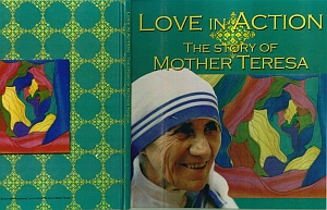 マザーテレサの本の表紙に小東さんの作品掲載