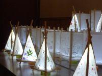 150712(レポート) 体験教室:杉原紙のランプシェード作り