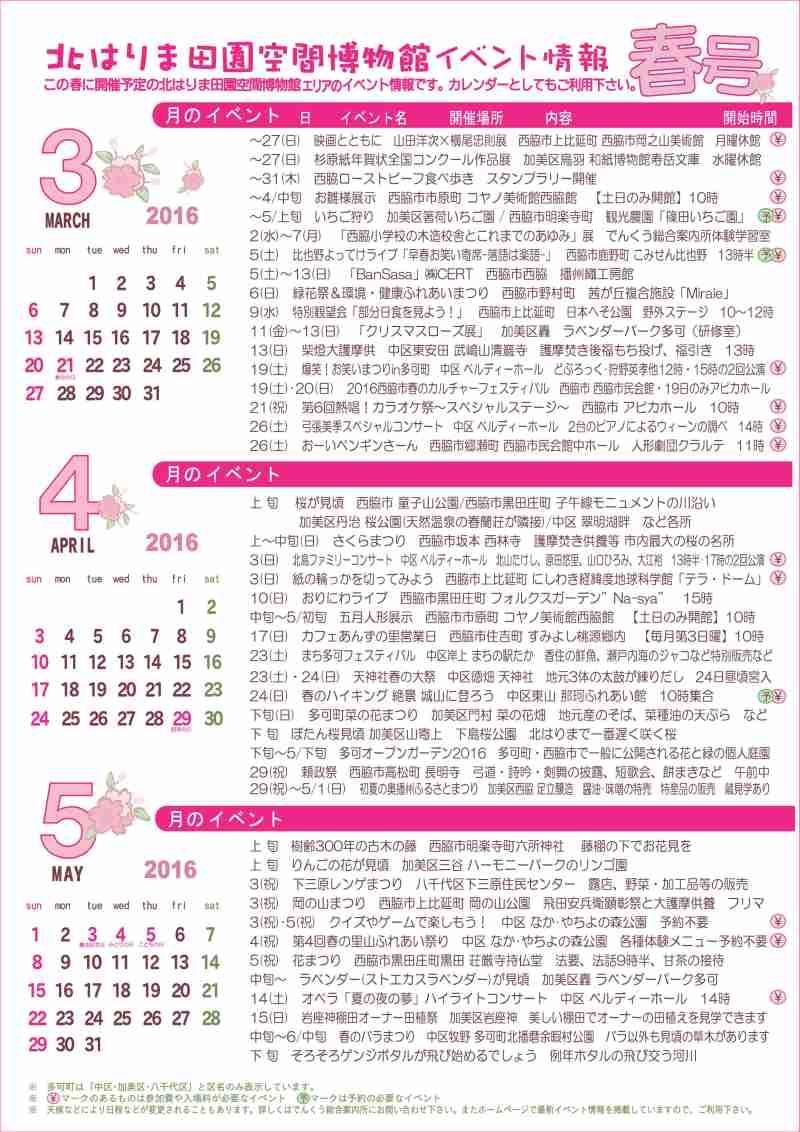 見てみてガイド&イベントカレンダー春号