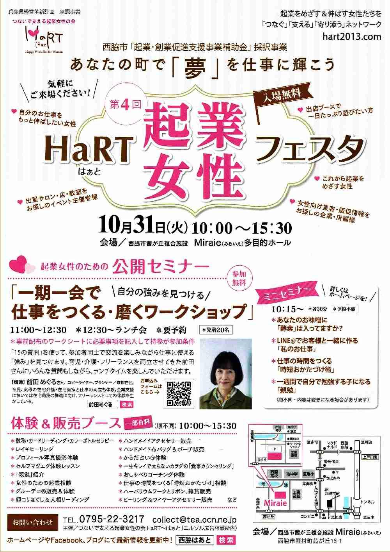 10/31 HaRT起業女性フェスタ:みらいえ
