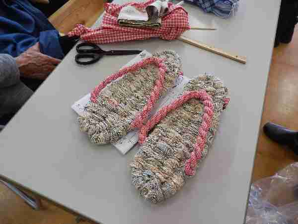 180520 【レポート】播州織りの布ぞうりづくり
