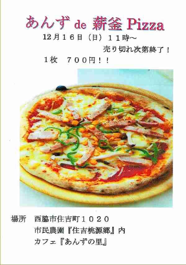 12/16 新釜Pizza:カフェあんずの里